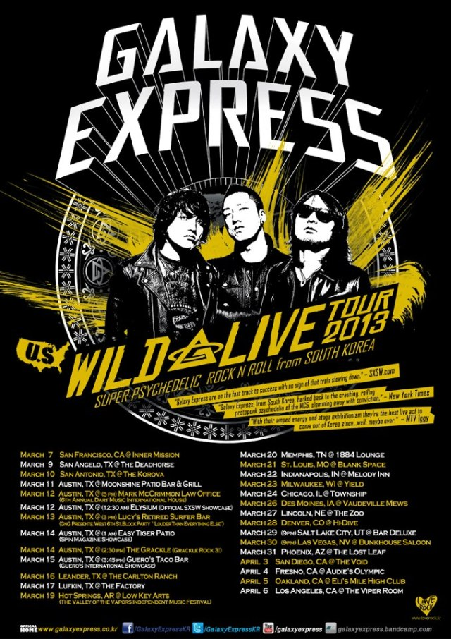 Galaxy Express 2013 USA Tour Poster